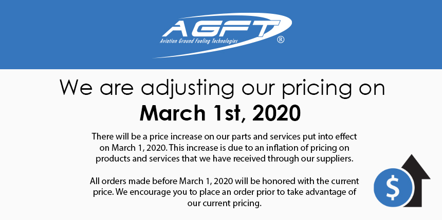 Price Adjustment March 1st, 2020